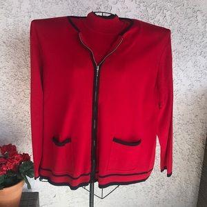 Turtleneck Sleeves Sweater w/Sweater Jacket